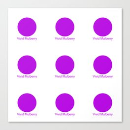 Vivid Mulberry Canvas Print