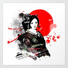 Kyoto Geisha Japan Art Print