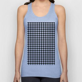 Gingham Black and White Pattern Unisex Tank Top