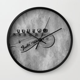 Stratocaster Headstock Wall Clock