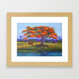 Flamboyan Framed Art Print