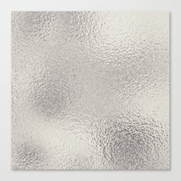 Simply Metallic in Silver Canvas Print
