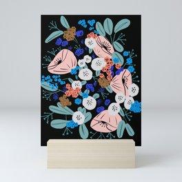Gouache floral bouquet Mini Art Print