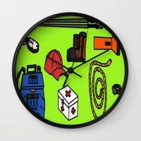 hiking Wall Clocks featuring Hiking by Jonny Penn