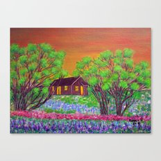 Meadow in the Sunrise Canvas Print