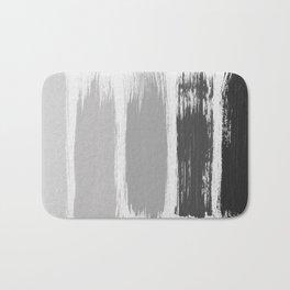 Black & White Stripes Bath Mat