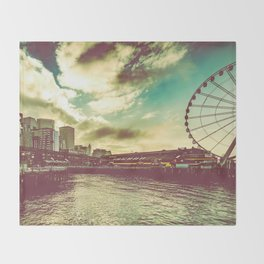 Seattle Pike Place Market Pier 57 Throw Blanket