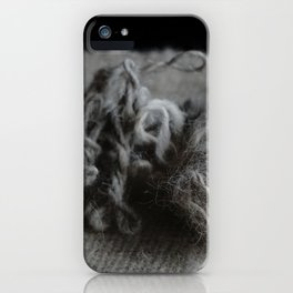 Hand spun Wool iPhone Case