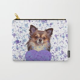 Watercolor Ultra Violet Splattering Dog Lovers Carry-All Pouch