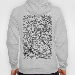 Black line doodle single line Hoody
