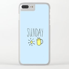 Sunday Sweetness Clear iPhone Case
