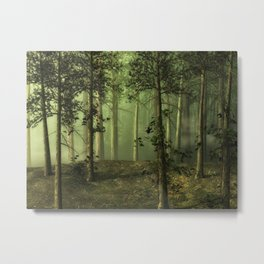 Fantasy Fog Forest Metal Print