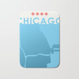 Minimalist Chicago Bath Mat