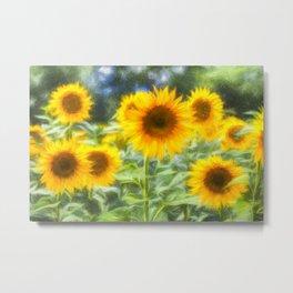Art Of The Sunflower Turner Metal Print