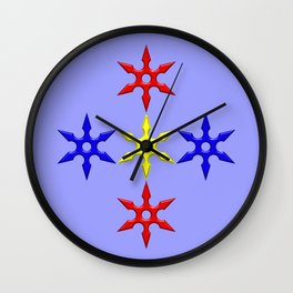 Shuriken Design version 2 Wall Clock