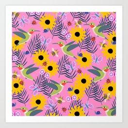 Caitlin Loves Nature Art Print