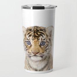 Baby Tiger Art Print by Zouzounio Art Travel Mug