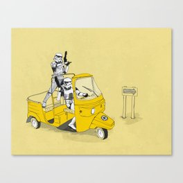 Storm Trooper Tuk Tuk Canvas Print