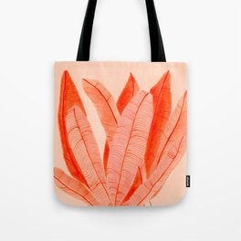 Feathered Palm Fronds Tote Bag