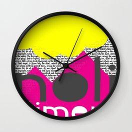 Noli Timere Wall Clock