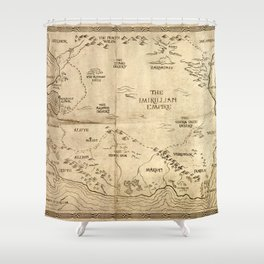 Map of Imirillia Shower Curtain