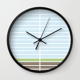 Modern Abstract Landscape Wall Clock