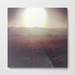 Sunrise over the Alabama Hills Metal Print