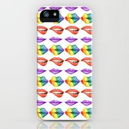 Rainbow Lips iPhone Case