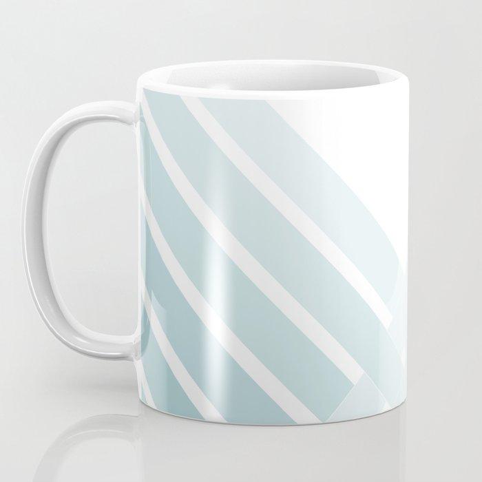 Teal Ombre Stripes Coffee Mug