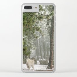 Mountain Goat Clear iPhone Case