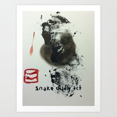 SNAKE DEADLY ACT Art Print