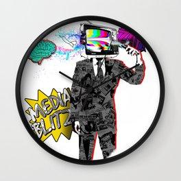 Media Blitz Wall Clock