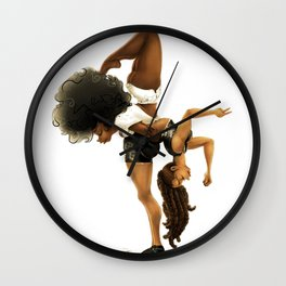 Yoga & Yogi Wall Clock