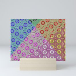 Rosettes patchwork Mini Art Print