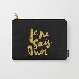 Je Ne Sais Quoi (Gold Text) Carry-All Pouch