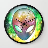 alien Wall Clocks featuring Alien by Spooky Dooky
