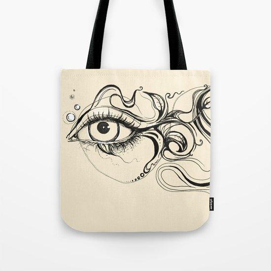 Eye Fish Doodle Tote Bag