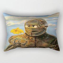 Robot & Flower Rectangular Pillow