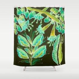 Irish Garden, Lime Green Flowers Dance in Joy Shower Curtain