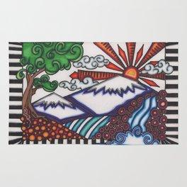 mountain hue Rug