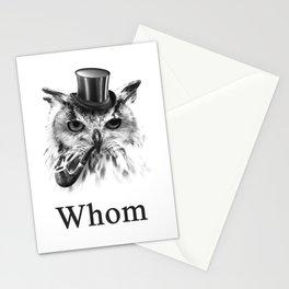 Whom Owl, the gentleman bird Stationery Cards