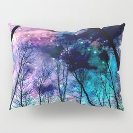 Black Trees Colorful SpacE Pillow Sham