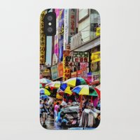 korean iPhone & iPod Cases featuring Korean Rain (Painted Version) by Anthony M. Davis