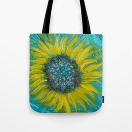 Sunflowers on Turquoise II Tote Bag