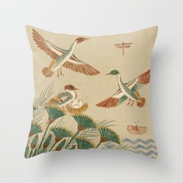 Wildlife Along the Nile Throw Pillow