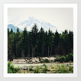 Northwest Mountain River Art Print