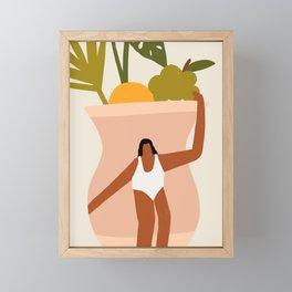 Woman on Vase Framed Mini Art Print