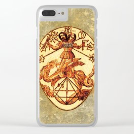 Symbols of the Occult - Mundane Egg Clear iPhone Case