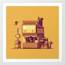 Cyberpunk Post Office Art Print
