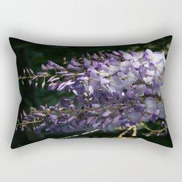 Wisteria With Garden Background Rectangular Pillow